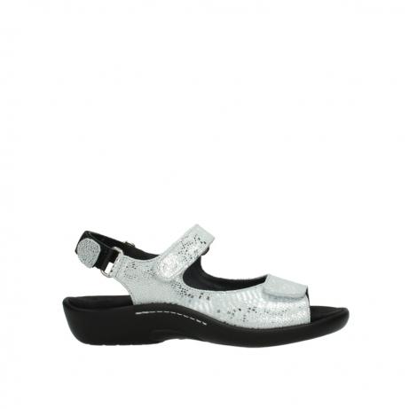 wolky sandalen 1300 salvia 612 gebroken wit slangenprint metallic leer