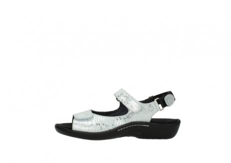 wolky sandalen 1300 salvia 612 gebroken wit slangenprint metallic leer_1