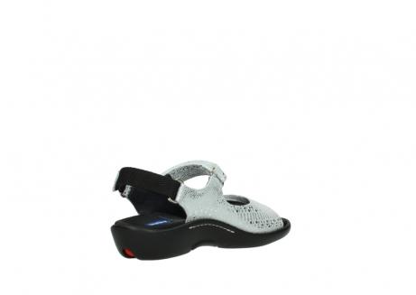 wolky sandalen 1300 salvia 612 gebroken wit slangenprint metallic leer_10