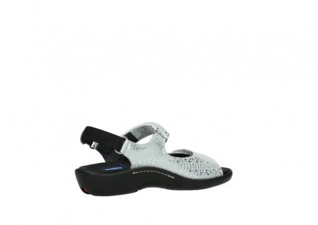 wolky sandalen 1300 salvia 612 gebroken wit slangenprint metallic leer_11