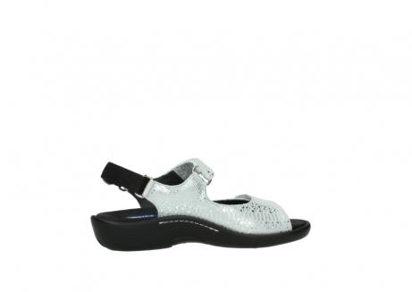 wolky sandalen 1300 salvia 612 gebroken wit slangenprint metallic leer_12