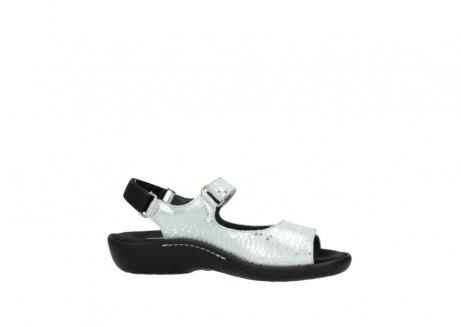 wolky sandalen 1300 salvia 612 gebroken wit slangenprint metallic leer_14