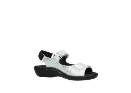 wolky sandalen 1300 salvia 612 gebroken wit slangenprint metallic leer_15