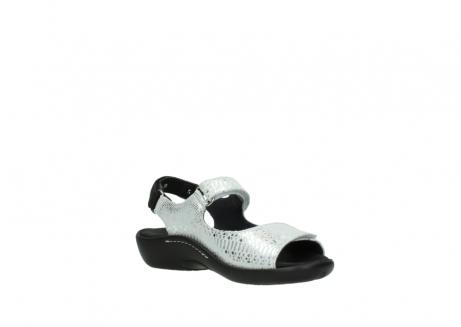 wolky sandalen 1300 salvia 612 gebroken wit slangenprint metallic leer_16