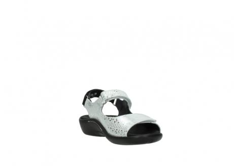 wolky sandalen 1300 salvia 612 gebroken wit slangenprint metallic leer_17
