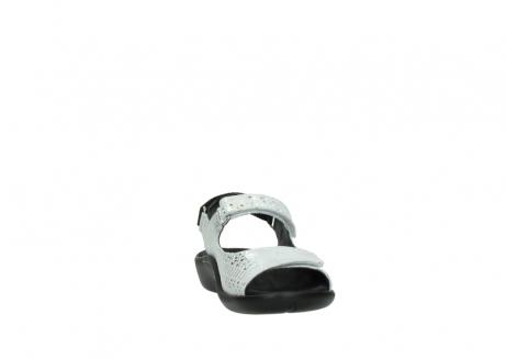 wolky sandalen 1300 salvia 612 gebroken wit slangenprint metallic leer_18