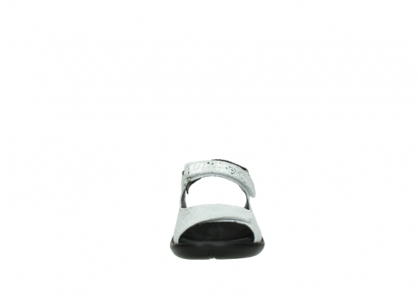 wolky sandalen 1300 salvia 612 gebroken wit slangenprint metallic leer_19