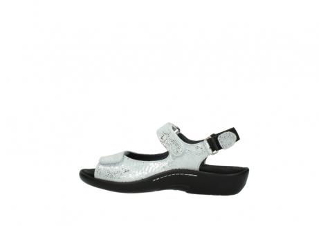 wolky sandalen 1300 salvia 612 gebroken wit slangenprint metallic leer_2