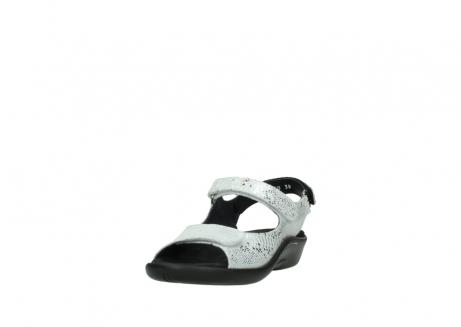 wolky sandalen 1300 salvia 612 gebroken wit slangenprint metallic leer_21