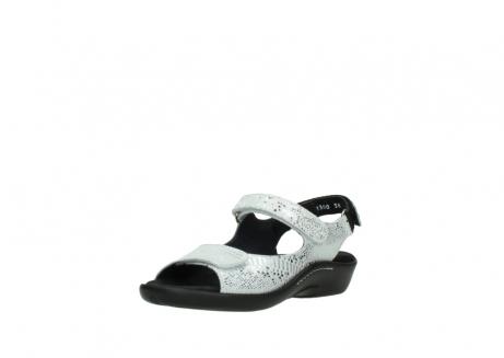 wolky sandalen 1300 salvia 612 gebroken wit slangenprint metallic leer_22