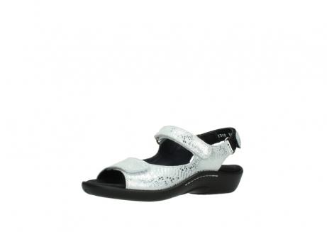 wolky sandalen 1300 salvia 612 gebroken wit slangenprint metallic leer_23