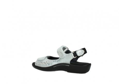 wolky sandalen 1300 salvia 612 gebroken wit slangenprint metallic leer_3