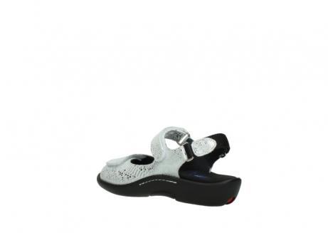 wolky sandalen 1300 salvia 612 gebroken wit slangenprint metallic leer_4