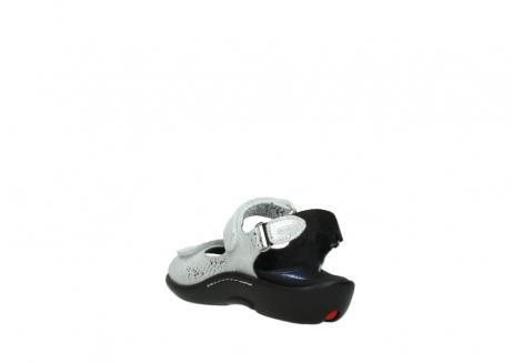 wolky sandalen 1300 salvia 612 gebroken wit slangenprint metallic leer_5