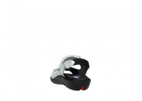 wolky sandalen 1300 salvia 612 gebroken wit slangenprint metallic leer_6