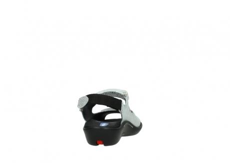 wolky sandalen 1300 salvia 612 gebroken wit slangenprint metallic leer_8
