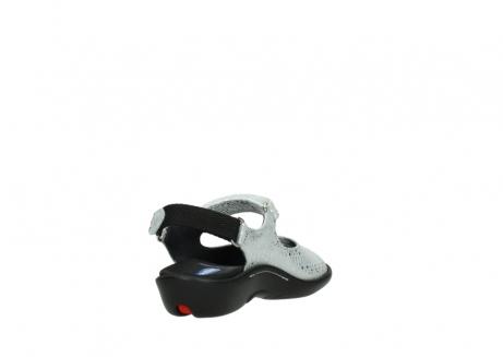 wolky sandalen 1300 salvia 612 gebroken wit slangenprint metallic leer_9