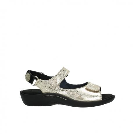 wolky sandalen 1300 salvia 614 goud slangenprint metallic leer