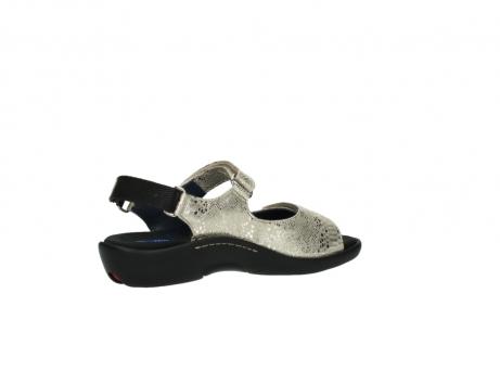 wolky sandalen 1300 salvia 614 goud slangenprint metallic leer_11