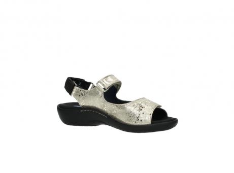 wolky sandalen 1300 salvia 614 goud slangenprint metallic leer_15