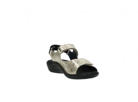 wolky sandalen 1300 salvia 614 goud slangenprint metallic leer_17