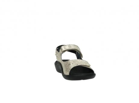wolky sandalen 1300 salvia 614 goud slangenprint metallic leer_18