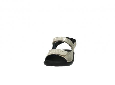 wolky sandalen 1300 salvia 614 goud slangenprint metallic leer_20