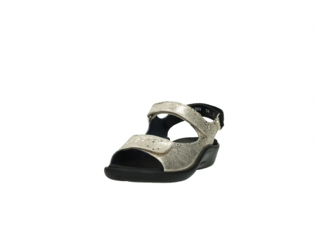 wolky sandalen 1300 salvia 614 goud slangenprint metallic leer_21