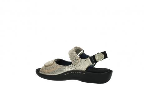 wolky sandalen 1300 salvia 614 goud slangenprint metallic leer_3