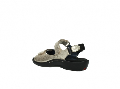 wolky sandalen 1300 salvia 614 goud slangenprint metallic leer_4