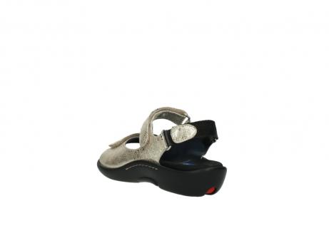 wolky sandalen 1300 salvia 614 goud slangenprint metallic leer_5