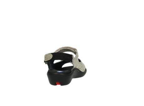 wolky sandalen 1300 salvia 614 goud slangenprint metallic leer_8