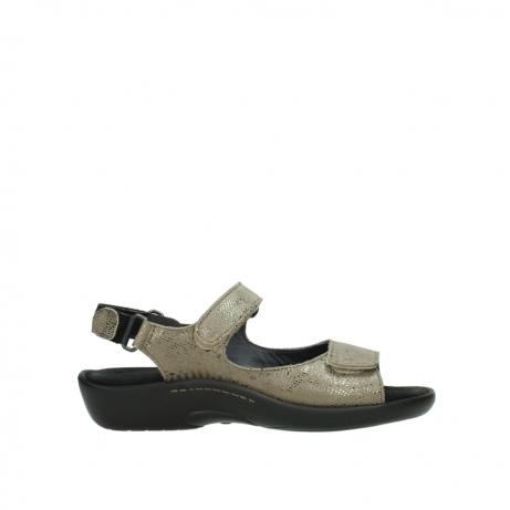 wolky sandalen 1300 salvia 615 taupe slangenprint metallic leer