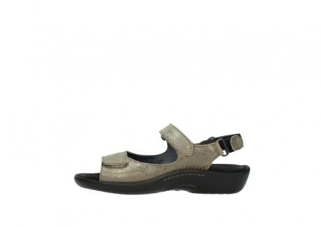 wolky sandalen 1300 salvia 615 taupe slangenprint metallic leer_1