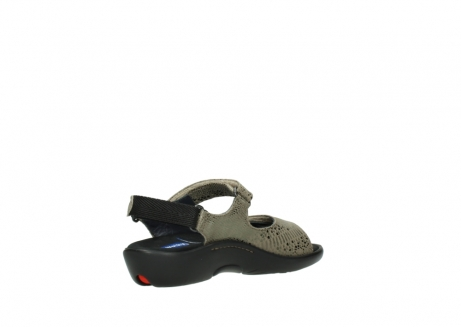 wolky sandalen 1300 salvia 615 taupe slangenprint metallic leer_10
