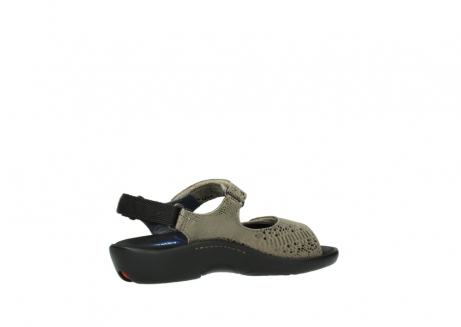 wolky sandalen 1300 salvia 615 taupe slangenprint metallic leer_11