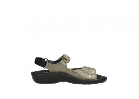 wolky sandalen 1300 salvia 615 taupe slangenprint metallic leer_13