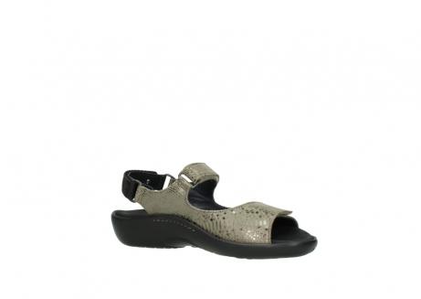 wolky sandalen 1300 salvia 615 taupe slangenprint metallic leer_15