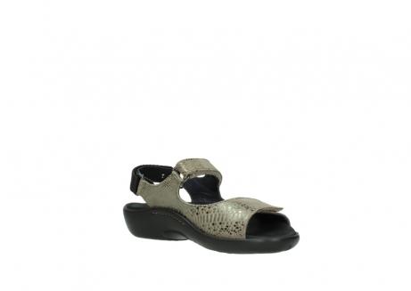 wolky sandalen 1300 salvia 615 taupe slangenprint metallic leer_16