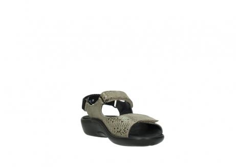 wolky sandalen 1300 salvia 615 taupe snakeprint metallic leder_17