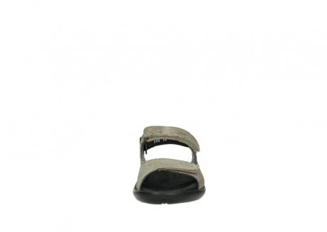 wolky sandalen 1300 salvia 615 taupe snakeprint metallic leder_19