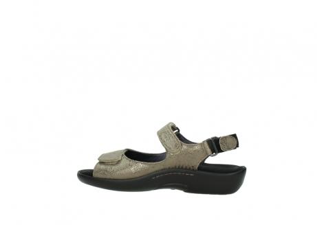 wolky sandalen 1300 salvia 615 taupe slangenprint metallic leer_2