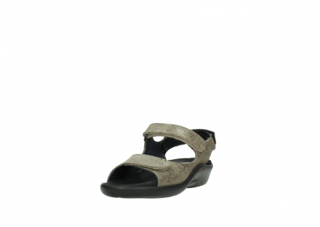 wolky sandalen 1300 salvia 615 taupe snakeprint metallic leder_21