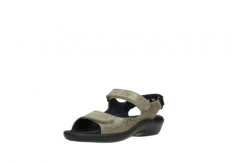 wolky sandalen 1300 salvia 615 taupe slangenprint metallic leer_22