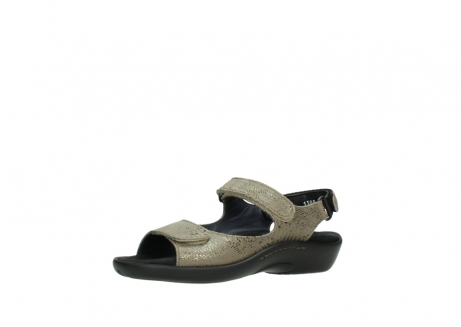 wolky sandalen 1300 salvia 615 taupe slangenprint metallic leer_23