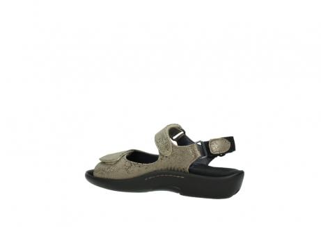 wolky sandalen 1300 salvia 615 taupe slangenprint metallic leer_3