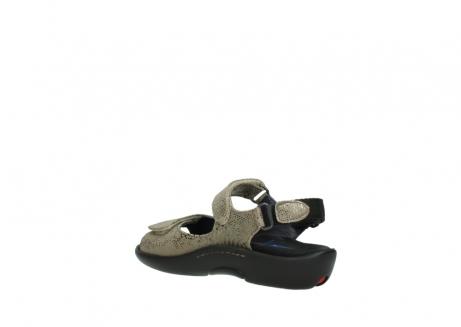 wolky sandalen 1300 salvia 615 taupe slangenprint metallic leer_4