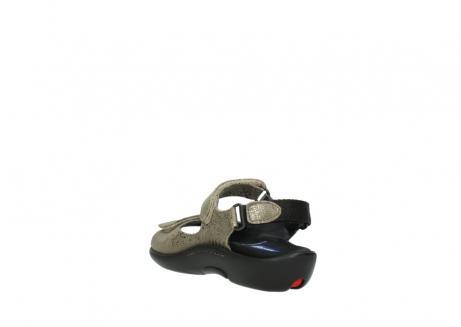 wolky sandalen 1300 salvia 615 taupe snakeprint metallic leder_5