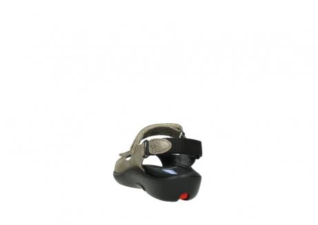wolky sandalen 1300 salvia 615 taupe snakeprint metallic leder_6