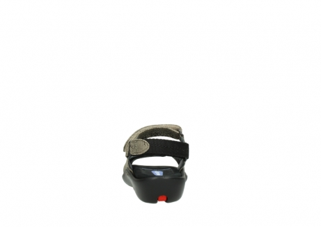 wolky sandalen 1300 salvia 615 taupe slangenprint metallic leer_7